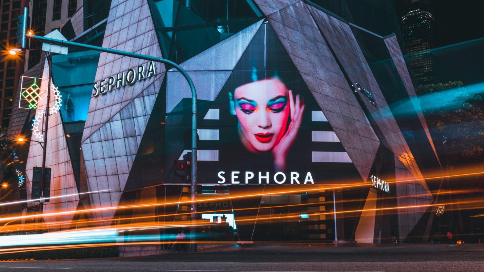 Make-up brands Sephora store