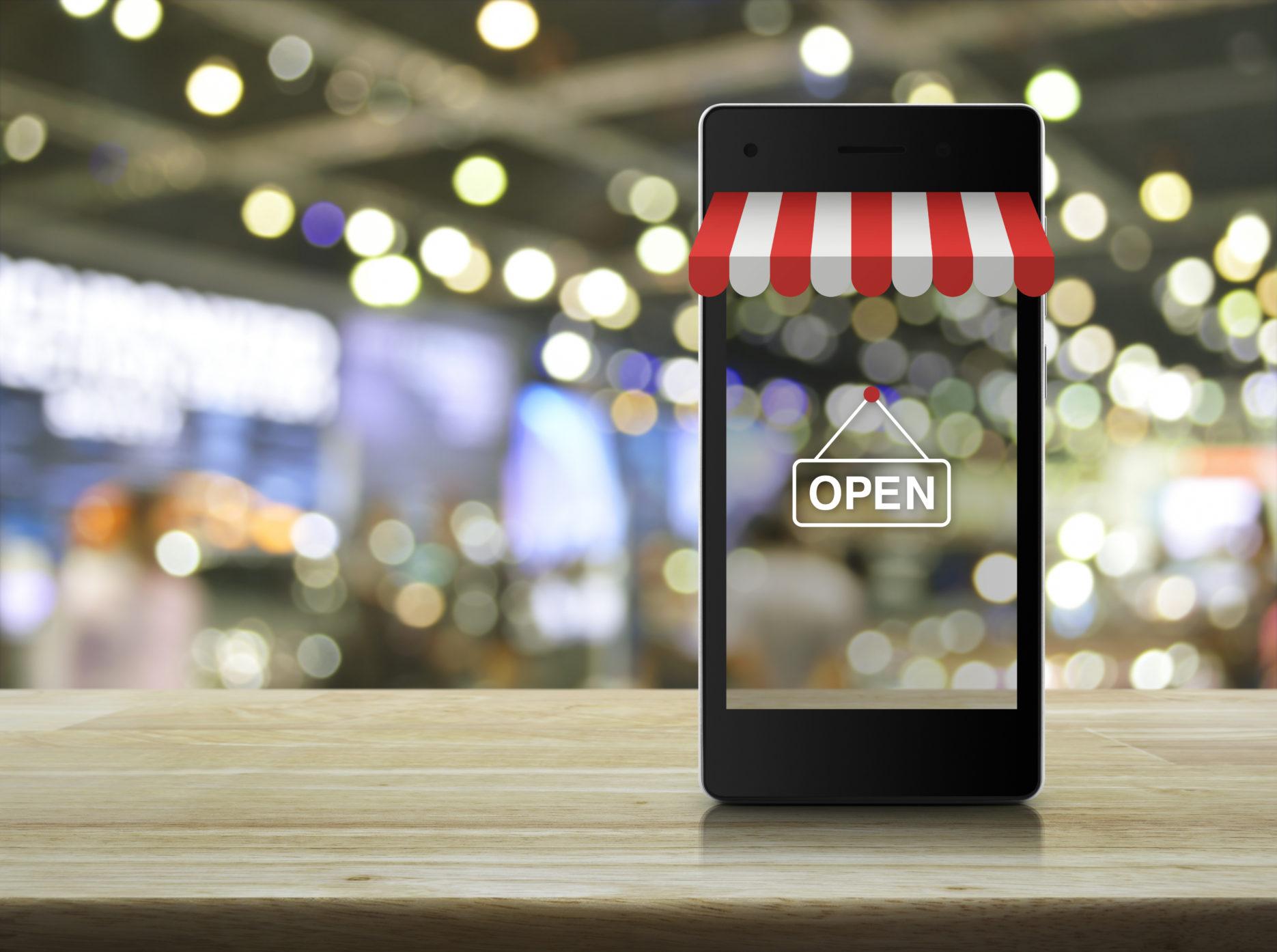 E-commerce through a smart phone