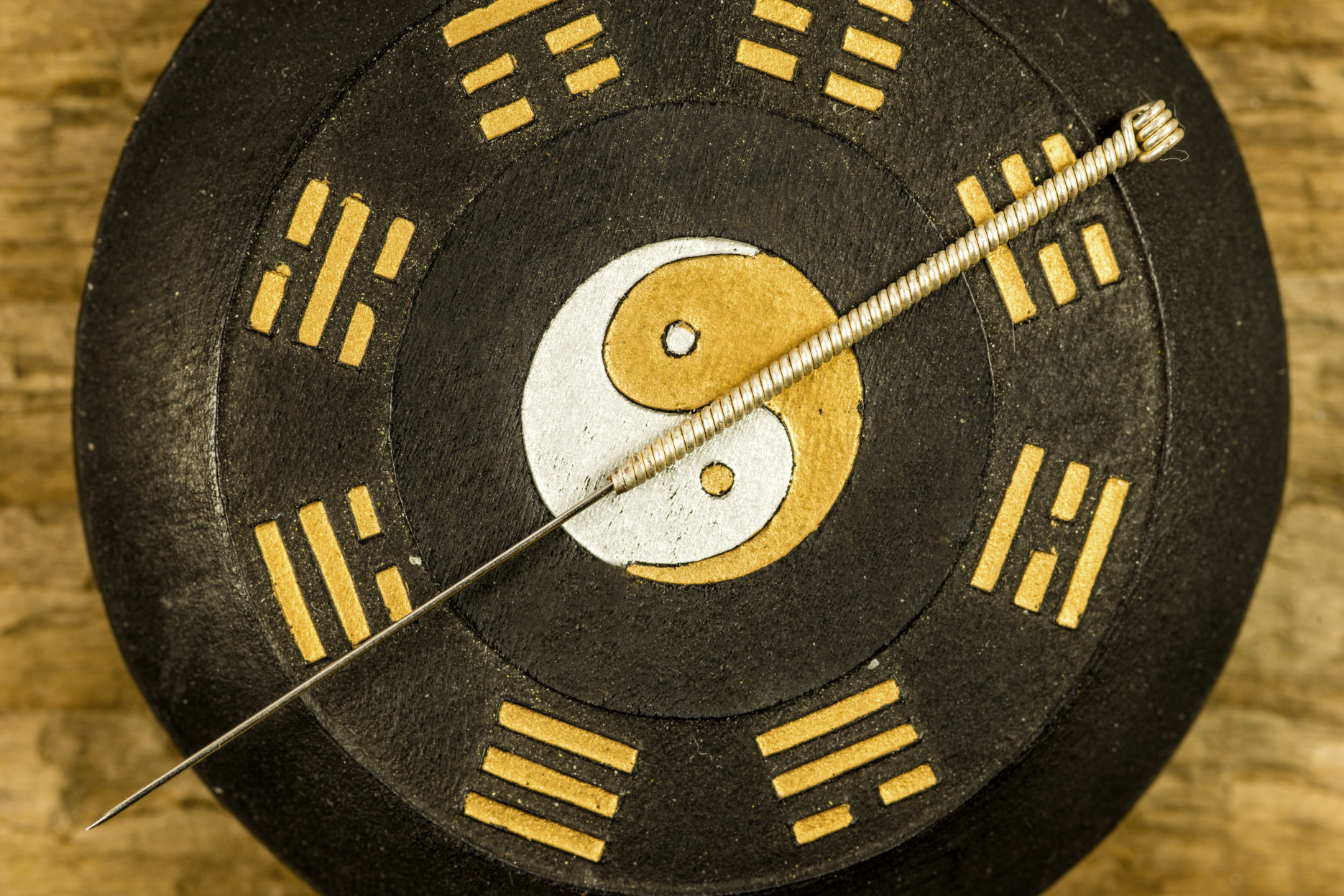 Acupuncture needle on Yin & Yang