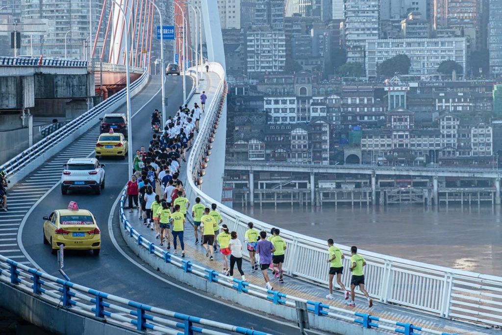 Nike charity run for Hubei children