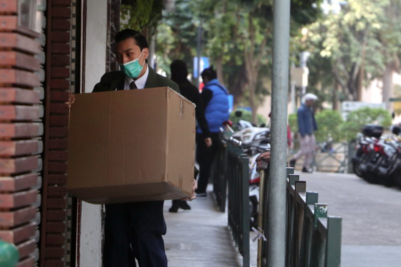 Delivery man in China