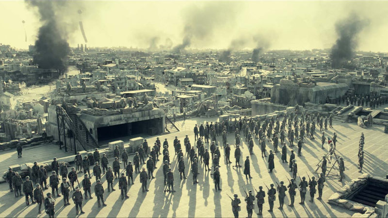 Scene from Chinese film The Eight Hundred
