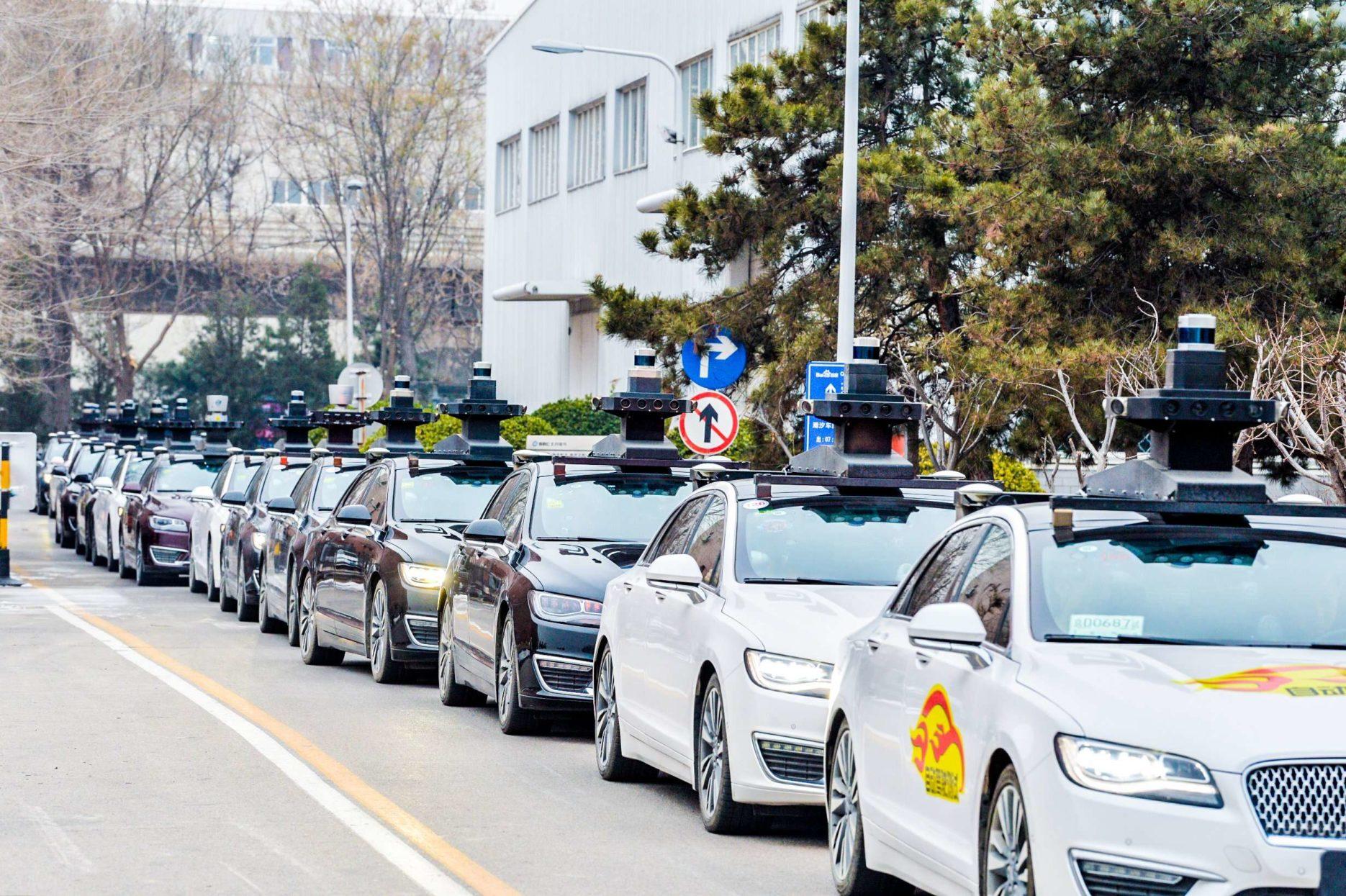 Baidu self-driving taxis