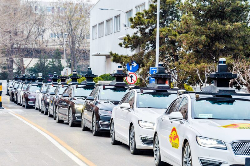Baidu self-driving taxis