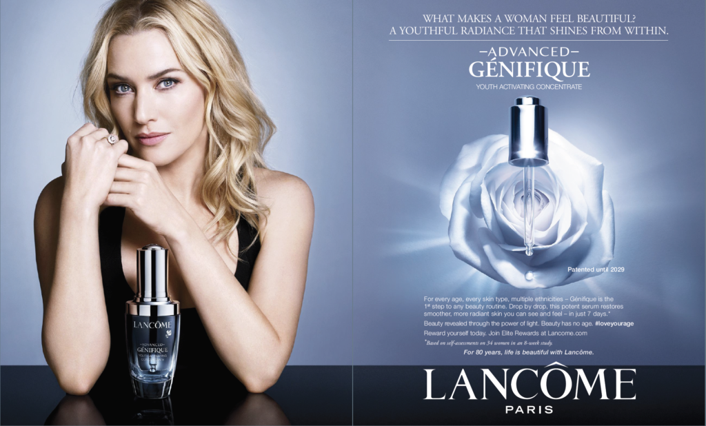 Lance Advanced Genifique Serum campaign