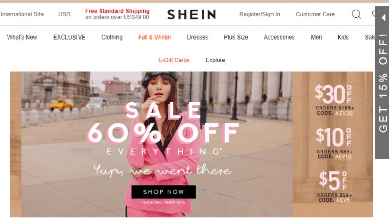 Ecommerce platform SHEIN