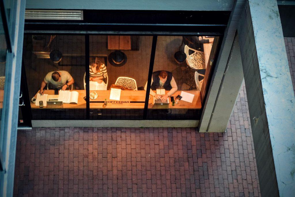 Inside a workplace