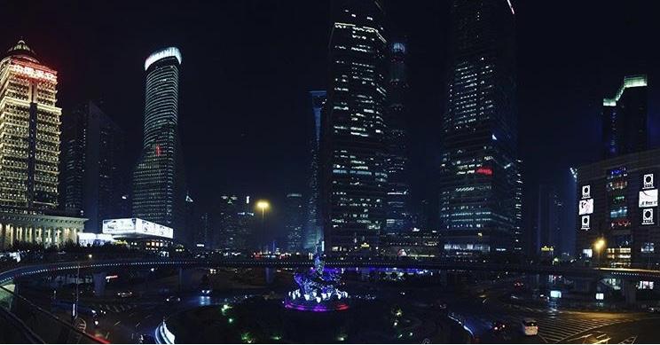 Night cityscape in China