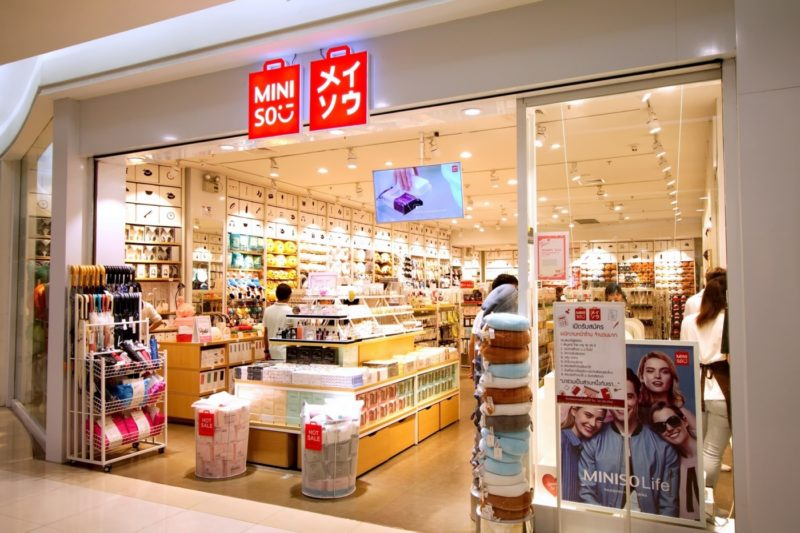 Miniso store-front