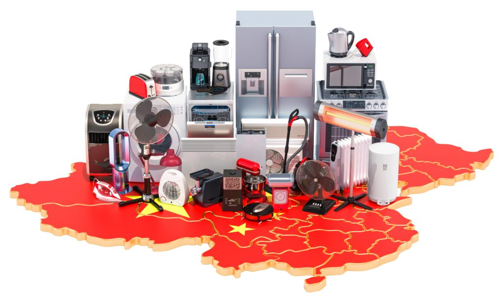 Growth of popularity of home appliances in China