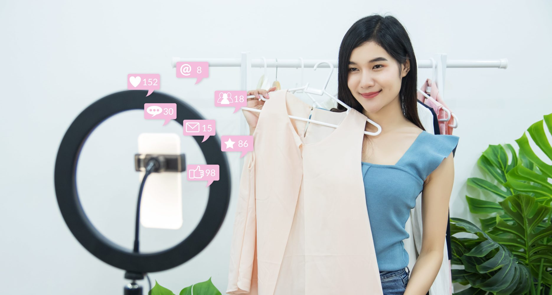 Growth in e-commerce livestreaming in China