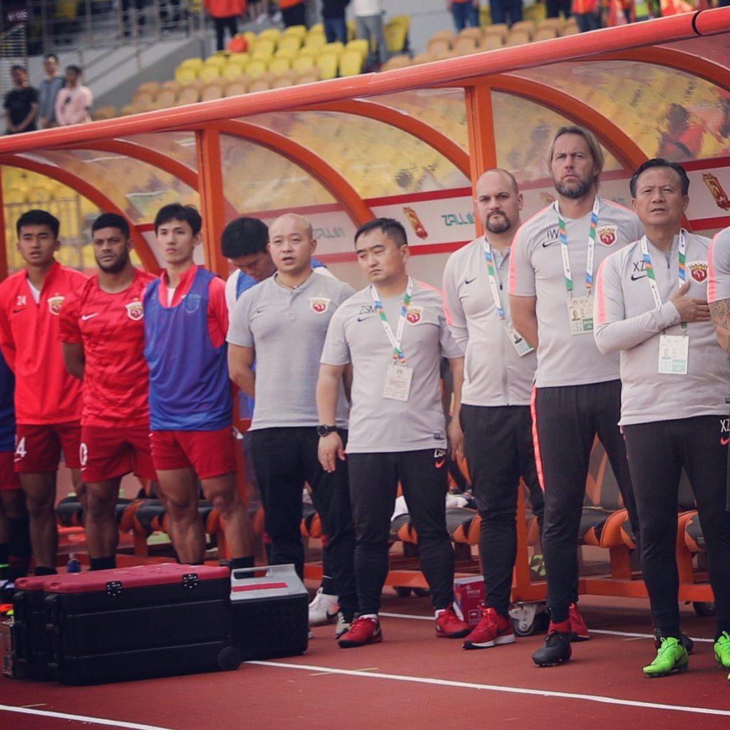 Football physio Ian Walker in China