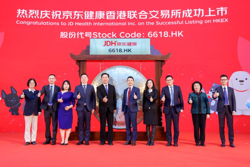 JD Health launches on Hong Kong stock exchange. Credit: JD Health