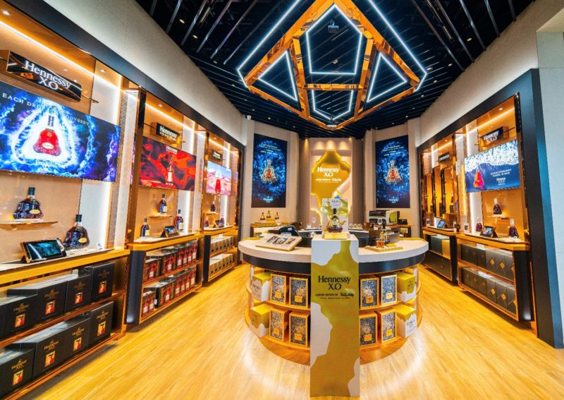 Hennessy offline store in Sanya. Credit: Lexiang life