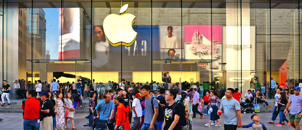 Apple offline store in China. Credit: knowledge@Wharton