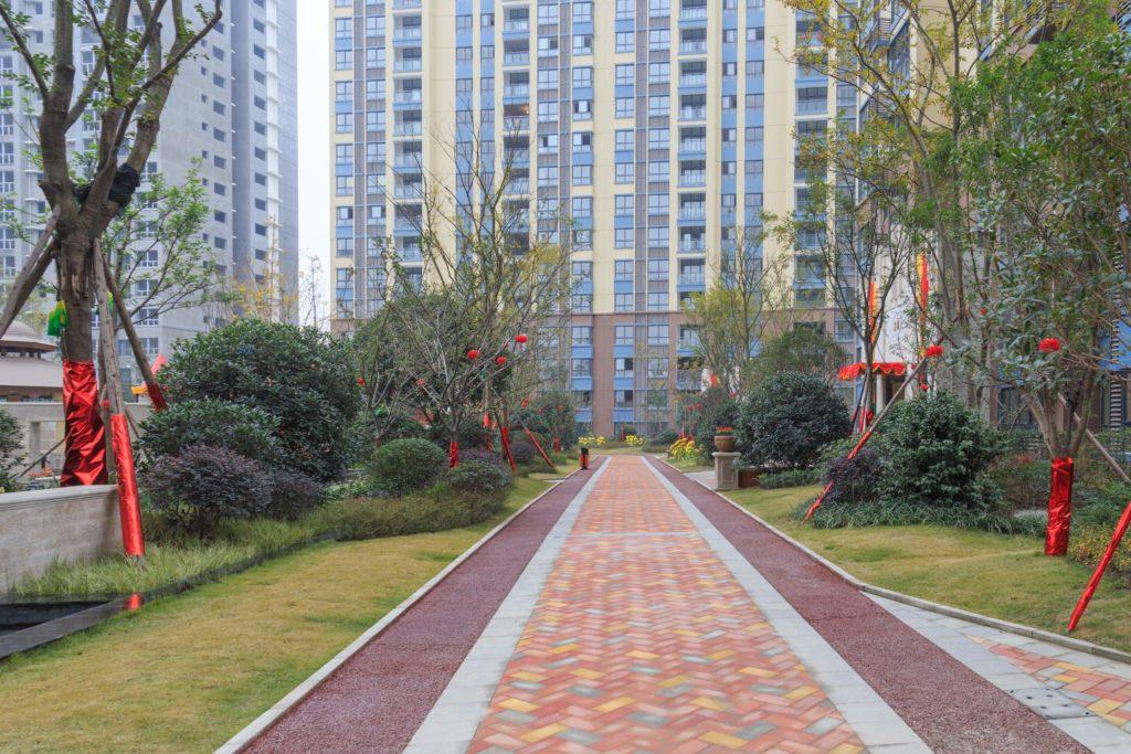 Apartment block in China