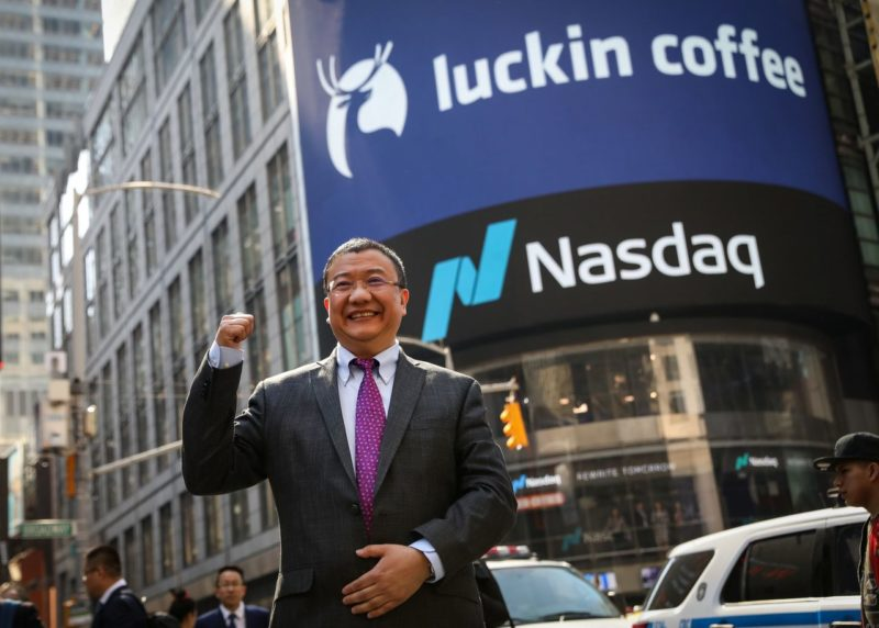 Luckin Coffee files for bankruptcy. Credit: The Wall Street Journal