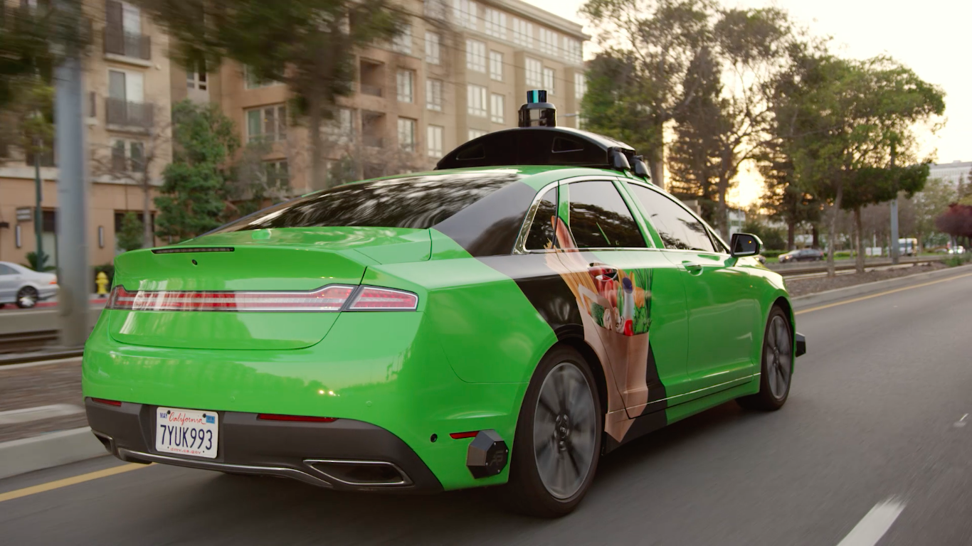 Self-driving vehicles in China. Credit: ZDNet