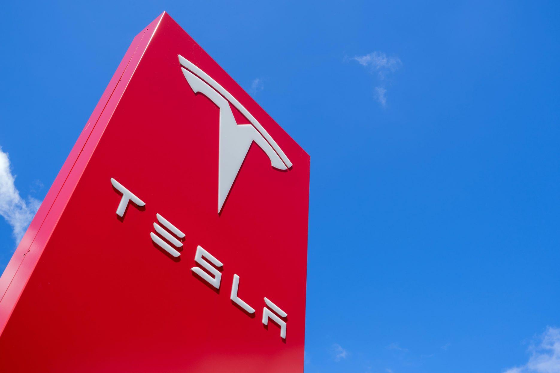 Tesla logo. Credit: Adobe Stock
