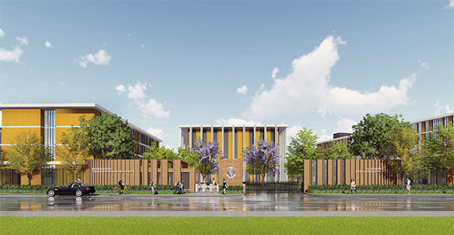 CGI rendering of Harrow School's Hainan campus, one of many prestigious international schools opening on the island