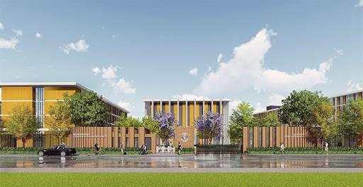 CGI rendering of Harrow School's Hainan campus, one of many prestigious international schools opening on the island