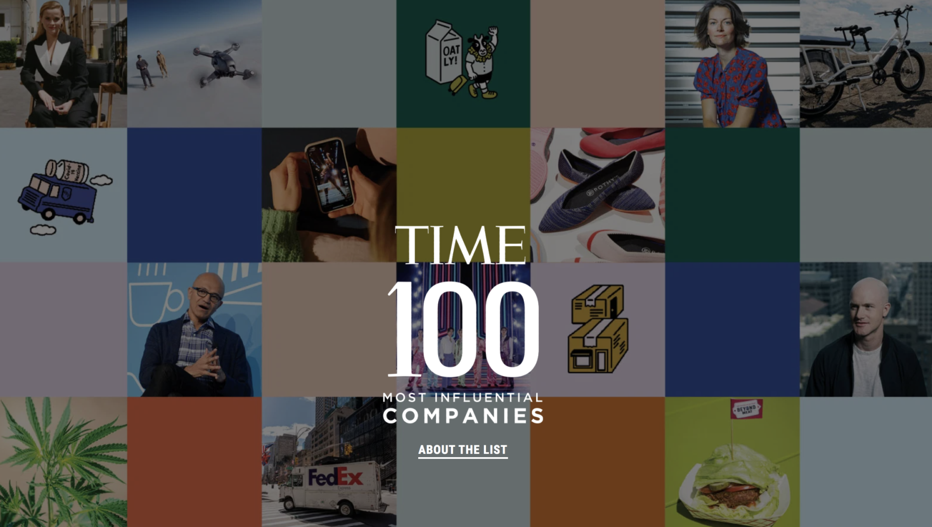 Time's 100 most influential companies. Credit: Time