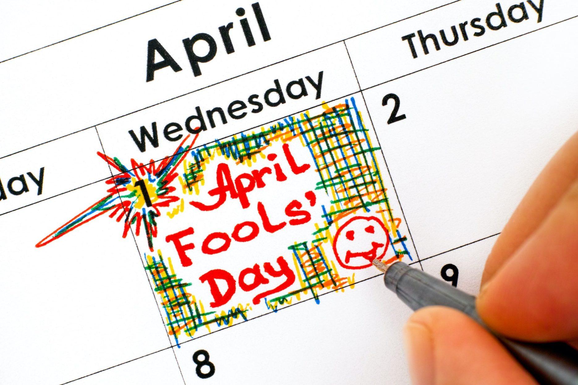 April Fool's Day. Credit: farmersalmanac