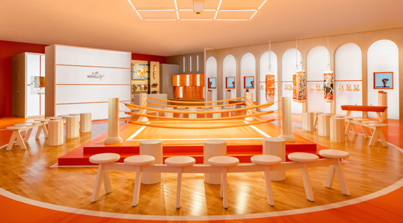 Hermès Opens its First Pop-Up Fitness Centre in Chengdu Credit: 爱马仕