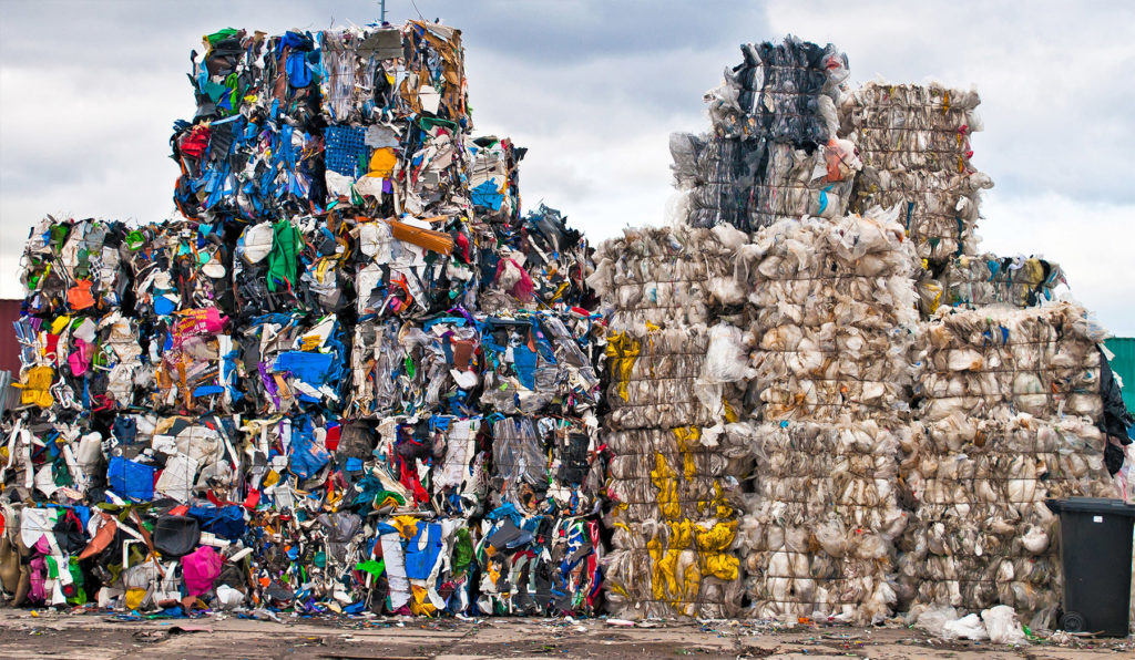 Recycling piles in China