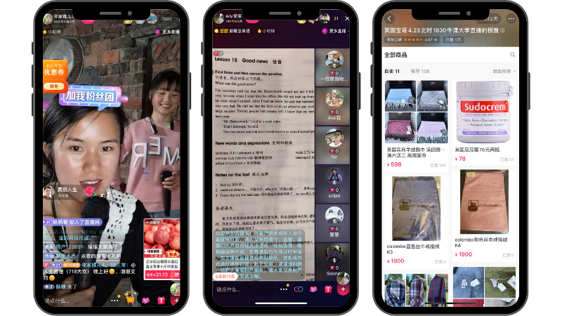 Livestream and social commerce on Douyin