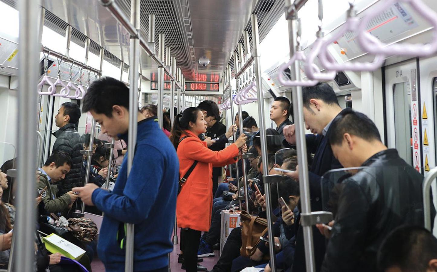 Chinese metro. Credit: 调色盘网