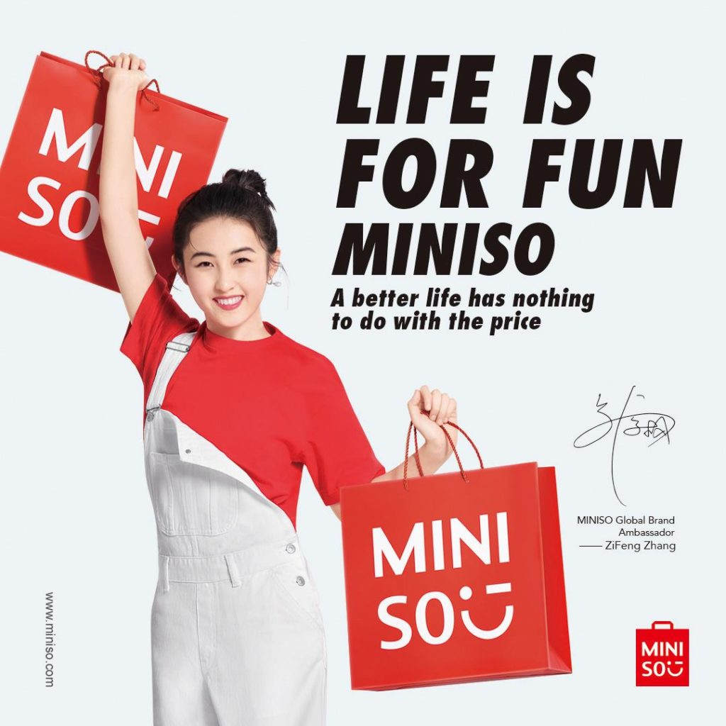 Zhang Zifeng in Miniso campaign