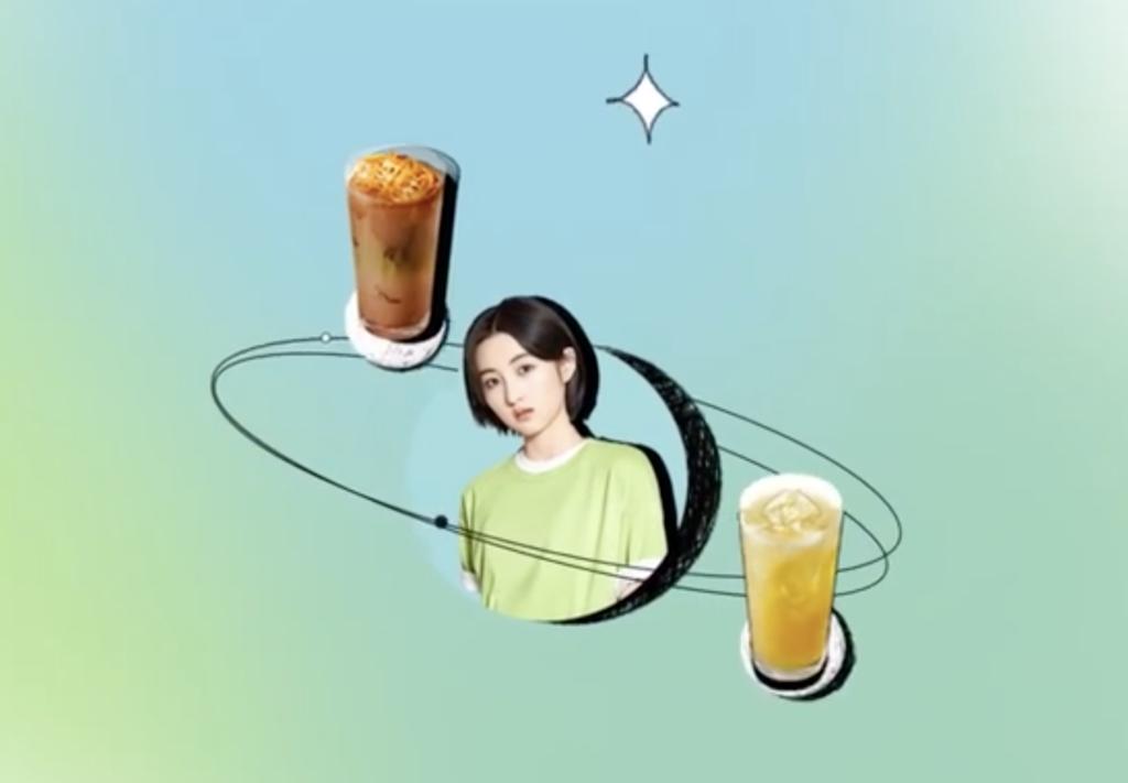 Zhang Zifeng in Starbucks campaign