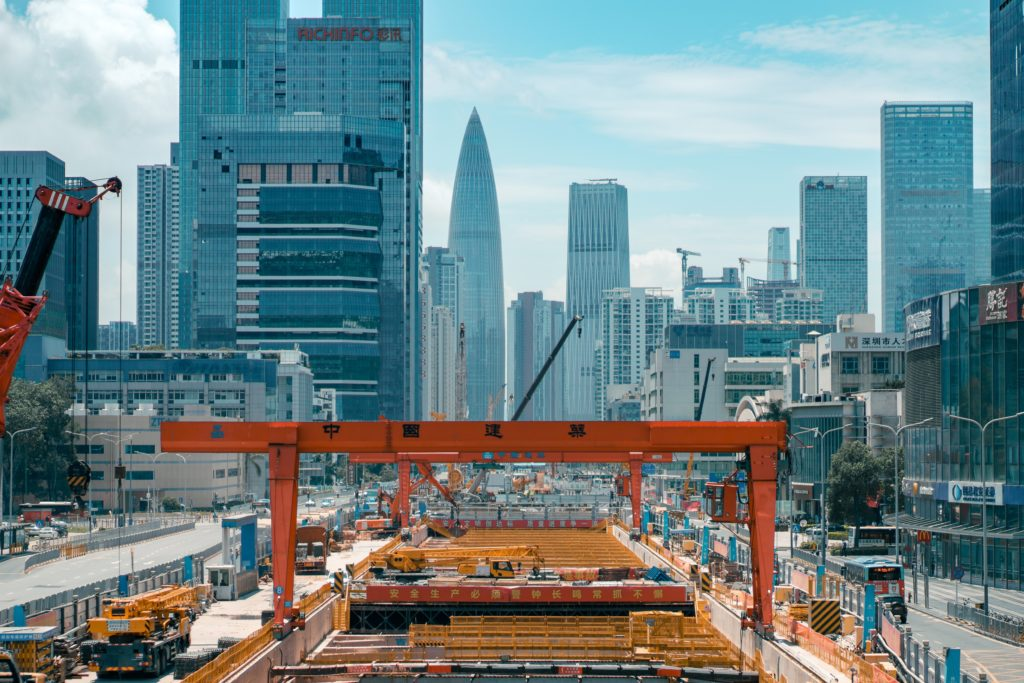 Shenzhen's rapid economic development.