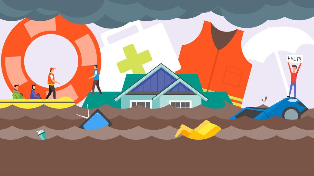 Flood rescue mission. Credit: Adobe Stock