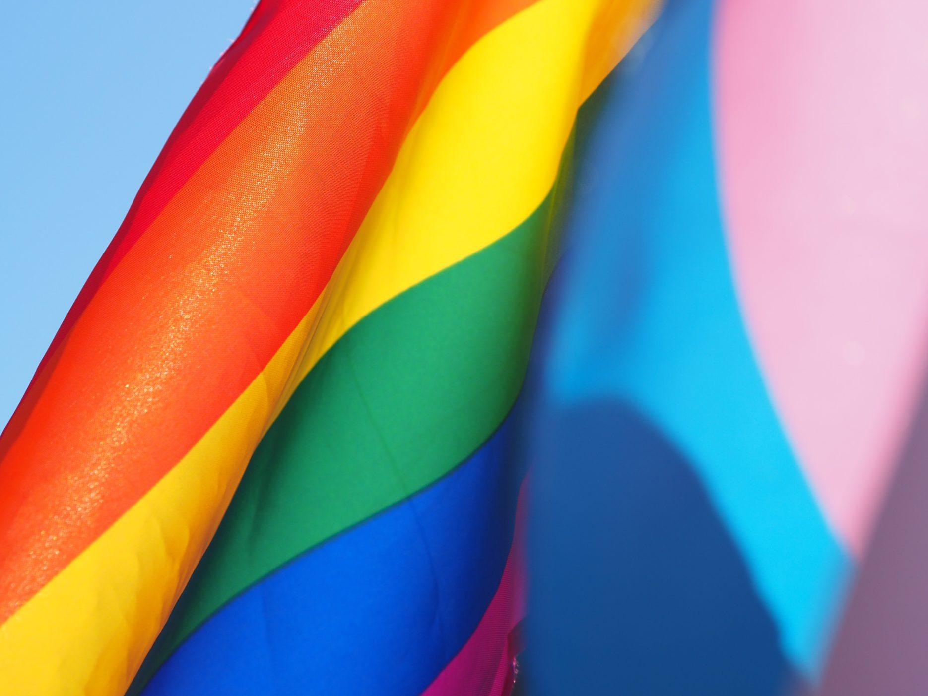 Rainbow flag. Credit: Unsplash