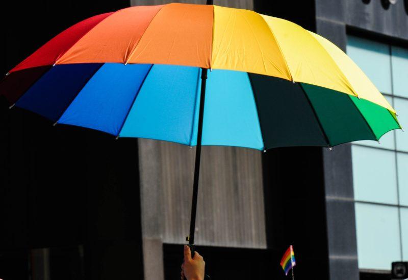 Rianbow umbrella in China. Credit: Unsplash