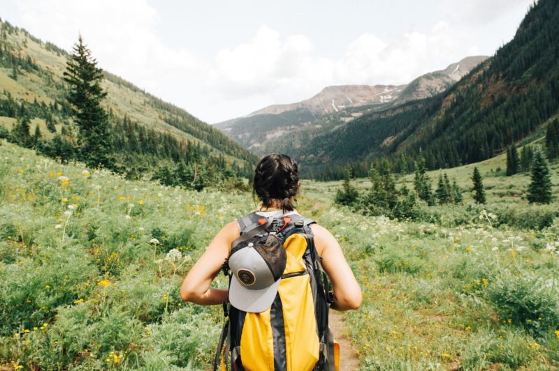 Man with a backpack. Credit: Unsplash